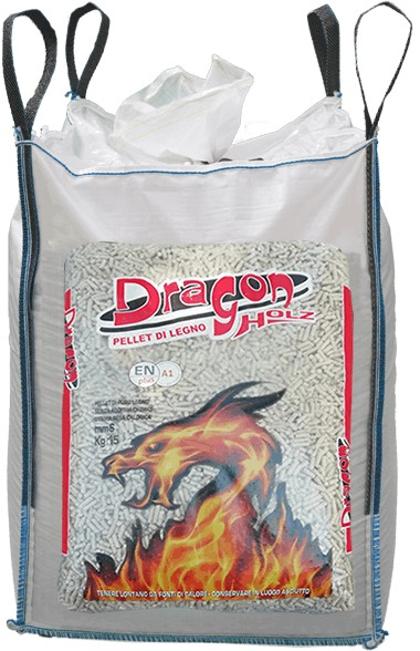 Ingrosso pellet Piemonte sfuso Dragon Holz Big Bag