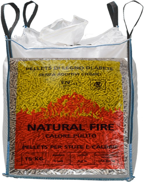 Ingrosso pellet Piemonte Natural Fire Big Bag
